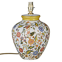 Buy India Jane V&A Floral Trail Pot Lamp Base, Multi Online at johnlewis.com
