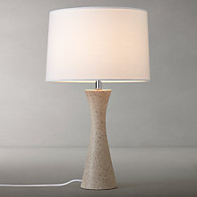 Buy John Lewis Otis Large Stone Table Lamp, Natural Online at johnlewis.com