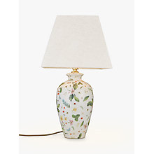 Buy India Jane V&A Leaves Tall Urn Lamp Base, Green Online at johnlewis.com