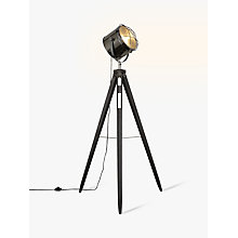 Buy John Lewis Jules Wood Marine Head Floor Lamp, Grey Online at johnlewis.com