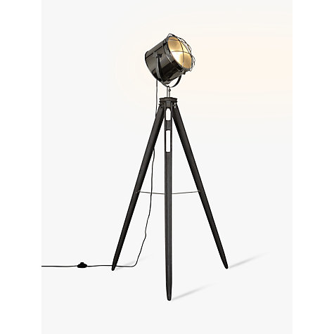 Buy John Lewis Jules Wood Marine Head Floor Lamp Grey