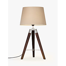 Buy John Lewis Jacques Dark Wood Table Lamp, Brown Online at johnlewis.com