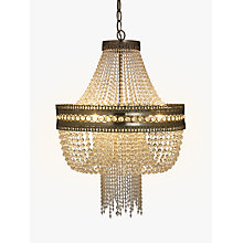 Buy John Lewis Lucia Crystal Chandelier, Crystal/Clear Online at johnlewis.com