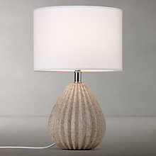 Buy John Lewis Oscar Ribbed Stone Table Lamp Online at johnlewis.com