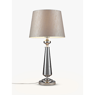 John Lewis Marissa Glass Sparkly Shade Table Lamp, Grey