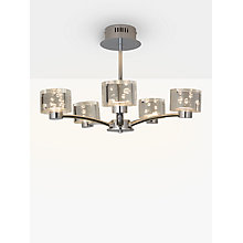 Buy John Lewis Lawrence LED Bubble Flush Light, 5 Light, Clear/Silver Online at johnlewis.com