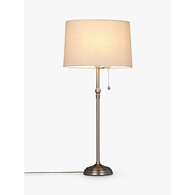 John Lewis Isabel Table Lamp, Pewter