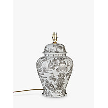 Buy India Jane V&A Peacock Toile De Jouy Lamp Base, Grey Online at johnlewis.com