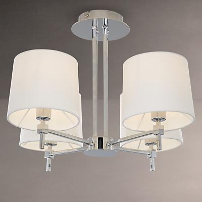 John Lewis Lockhart Ceiling Light, 4 Light, Chrome