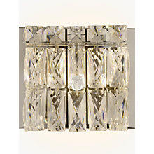 Buy John Lewis Kelsey Single Cube Wall Light, Crystal Clear Online at johnlewis.com