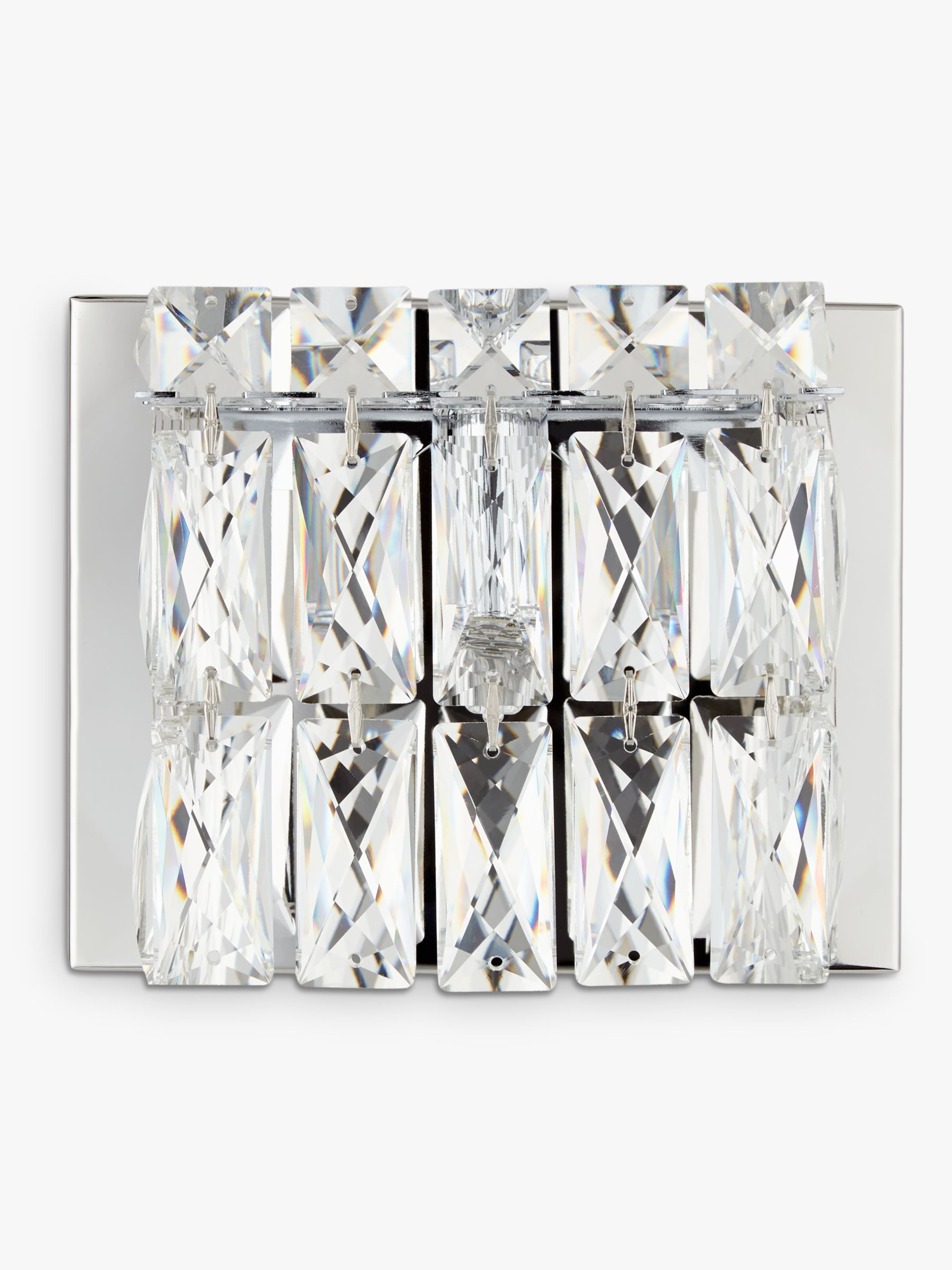 Buy John Lewis Kelsey Single Cube Wall Light, Crystal Clear John Lewis