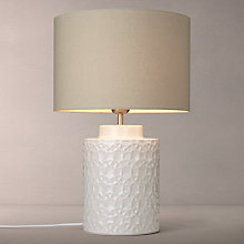 Buy John Lewis Lulworth Ceramic Table Lamps, Ivory Online at johnlewis.com