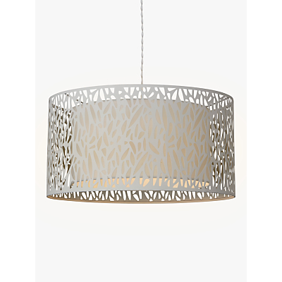 John Lewis Meadow Fretwork Shade Ceiling Light, Grey/White