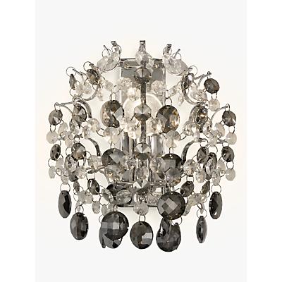John Lewis Paris Crystal Wall Light, Smoke/Clear