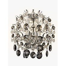 Buy John Lewis Paris Crystal Wall Light, Smoke/Clear Online at johnlewis.com