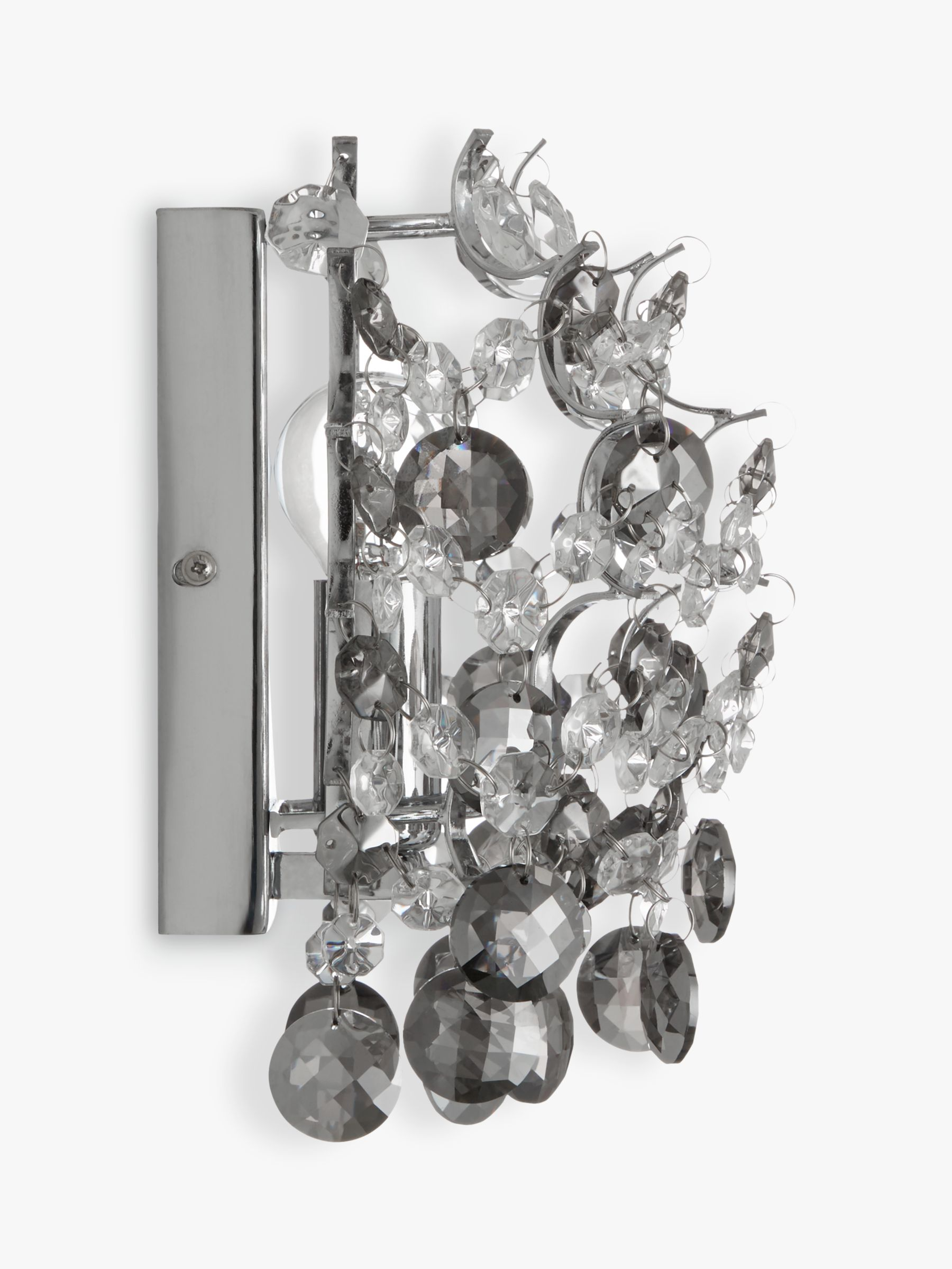 Buy John Lewis Paris Crystal Wall Light, Smoke/Clear John Lewis