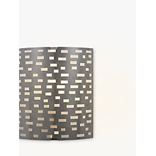 Buy John Lewis Tucco Fretwork Wall Light, Satin Nickel Online at johnlewis.com