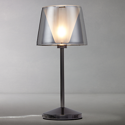 John Lewis Tempest Touch Table Lamp, Smoke
