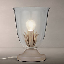 Buy John Lewis Clovelly Glass Vessel Table Lamp, Antique Cream Online at johnlewis.com