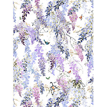 Buy Sanderson Waterperry Wisteria Falls Wallpaper Lilac 216297, Panel B Online at johnlewis.com
