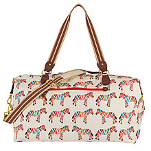 Buy Pink Lining Zebra Crossing Holdall Changing Bag Online at johnlewis.com