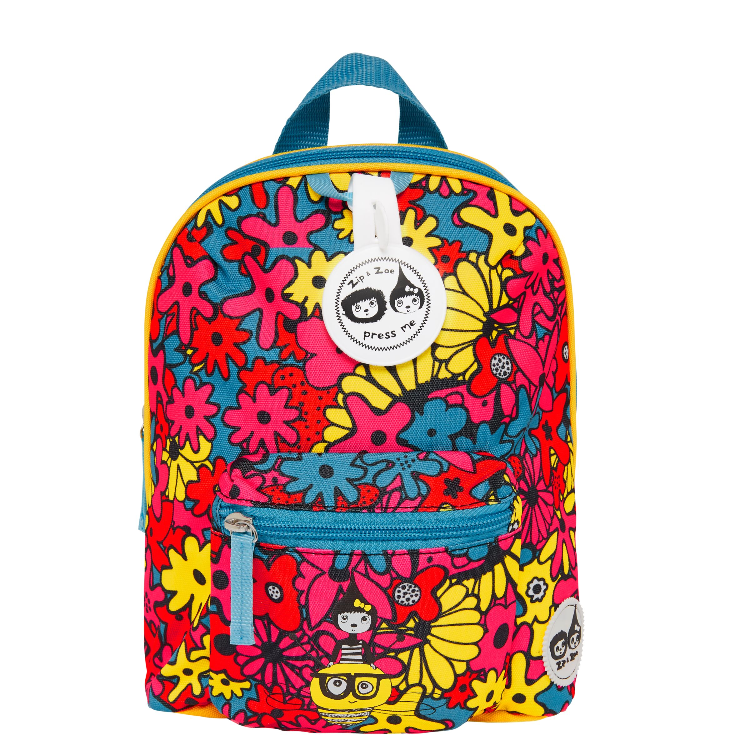 Babymel Babymel Zip & Zoe Mini Backpack, Reins and Safety Harness, Floral Brights