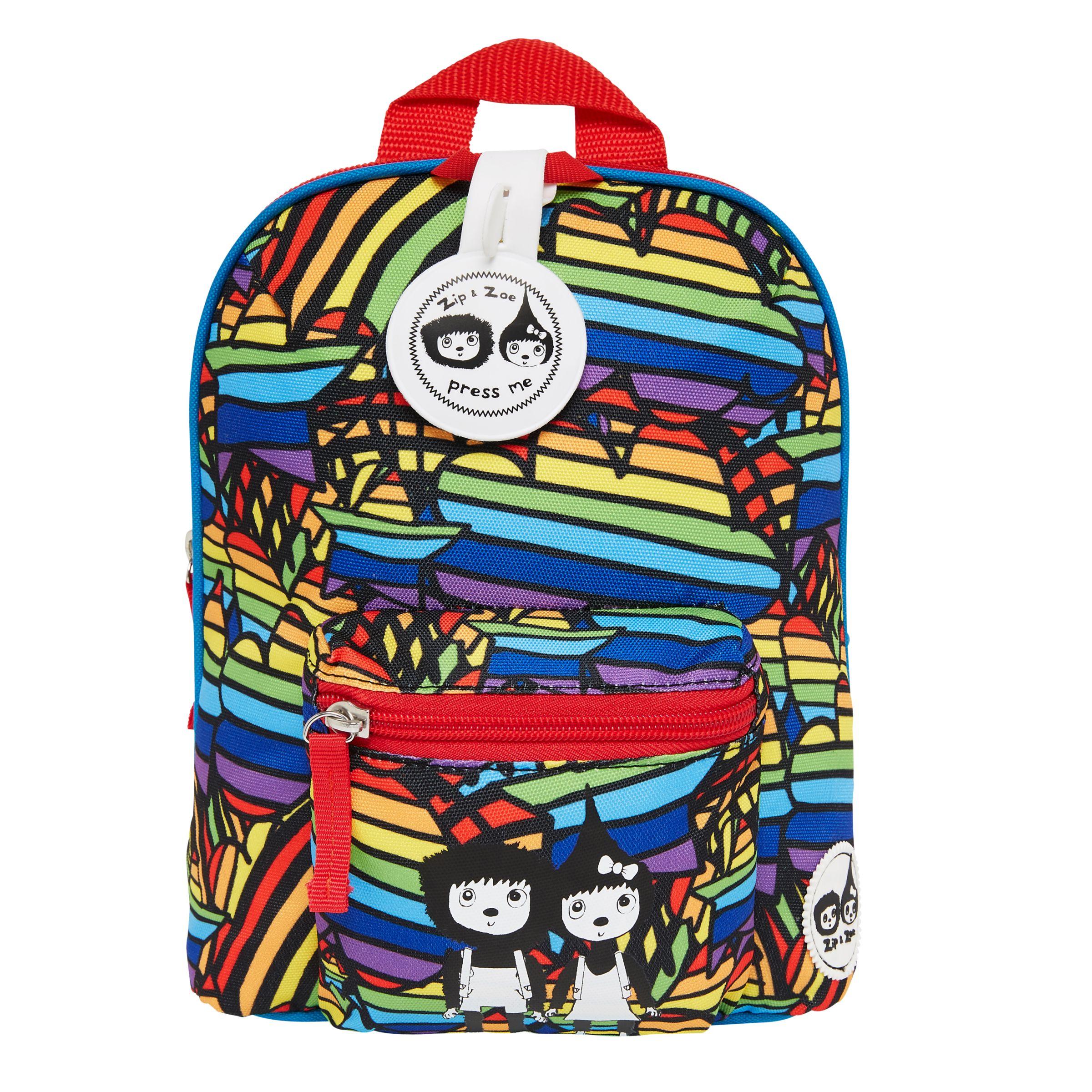 Babymel Babymel Zip & Zoe Mini Bag, Reins and Safety Harness, Rainbow Multi
