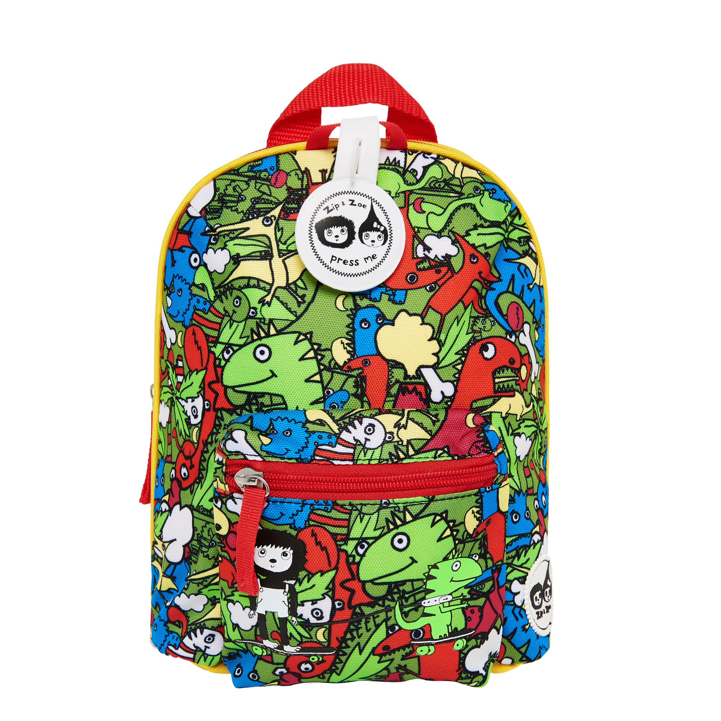 Babymel Babymel Zip & Zoe Mini Backpack with Reins and Safety Harness, Dino Multi