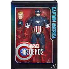 "Buy Marvel Legends Series Avengers Captain America 12"" Figure Online at johnlewis.com"