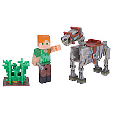 Buy Minecraft Alex & Skeleton Horse Series 3 Pack Online at johnlewis.com