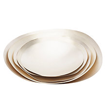 Buy Tom Dixon Form Bowl Set, Large, Silver Online at johnlewis.com