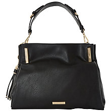 Buy Dune Donnie Tassel Detail Slouchy Hobo Bag, Black Online at johnlewis.com