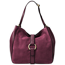 Buy MICHAEL Michael Kors Quincy Large Suede And Leather Shoulder Bag Online at johnlewis.com