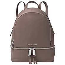 Buy MICHAEL Michael Kors Rhea Leather Backpack Online at johnlewis.com