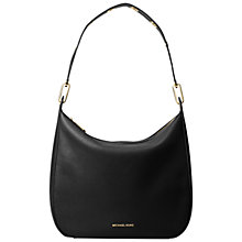 Buy MICHAEL Michael Kors Raven Large Leather Shoulder Bag, Black Online at johnlewis.com