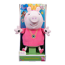 Buy Peppa Pig Singing Princess Peppa Soft Toy Online at johnlewis.com