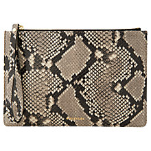 Buy Whistles Snake Leather Wristlet, Black/White Online at johnlewis.com