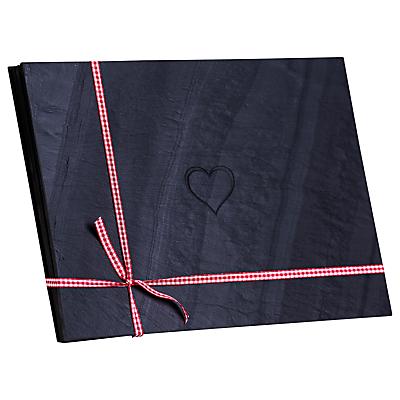 Image of Grasi Engraved Heart Welsh Slate Placemats, Set of 4