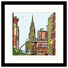 Buy Jamie B. Edwards - New York 2 Framed Print, 54 x 54cm Online at johnlewis.com
