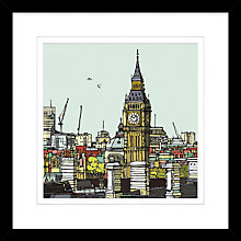 Buy Jamie Edwards - Big Ben Framed Print, 54 x 54cm Online at johnlewis.com