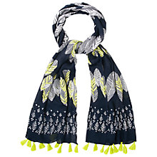 Buy White Stuff Falling Leaves Scarf, Navy Online at johnlewis.com