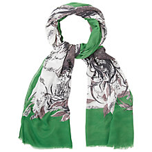 Buy White Stuff Hello Deer Scarf, Green Online at johnlewis.com