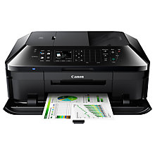 Buy Canon PIXMA MX725 All-in-One Wireless Printer & Fax Machine, Black Online at johnlewis.com