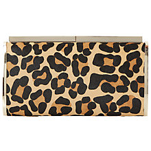 Buy Dune Britney Hard Case Clutch Bag, Leopard Online at johnlewis.com