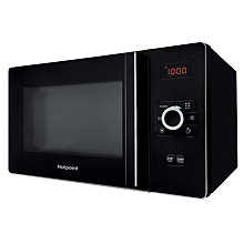 Buy Hotpoint MWH2524B Freestanding Combination Microwave, Black Online at johnlewis.com