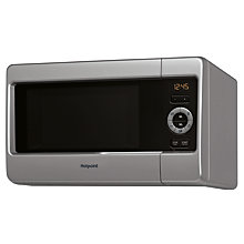 Buy Hotpoint MWH2422MS Freestanding Microwave with Grill, Silver Online at johnlewis.com
