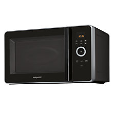 Buy Hotpoint MWH30243B Freestanding Combination Microwave, Black Online at johnlewis.com
