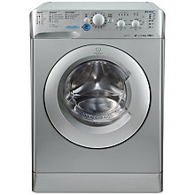 Buy Indesit XWSC61252S Freestanding Washing Machine, 6kg Load, A++ Energy Rating, 1200rpm Spin, Silver Online at johnlewis.com