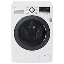Buy LG FH4A8JDS2 Freestanding Washing Machine, 10kg Load, A+++ Energy Rating, 1400rpm Spin, White Online at johnlewis.com