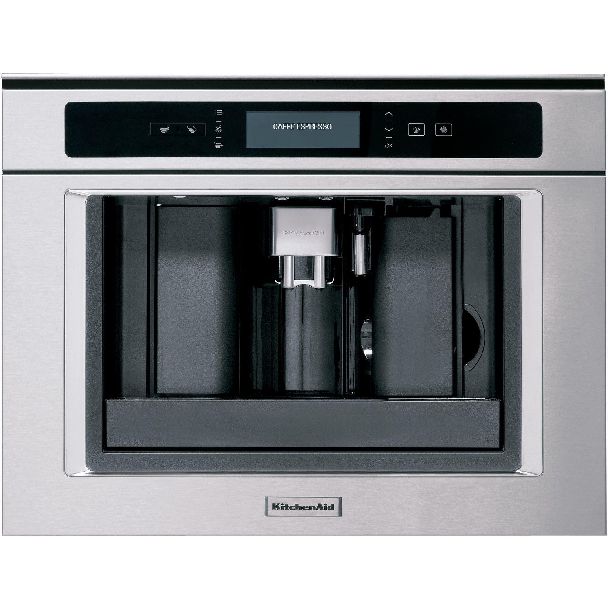 Built In Coffee Maker Reviews : Buy KitchenAid KQXXX45600 Built-In Coffee Machine, Stainless Steel John Lewis